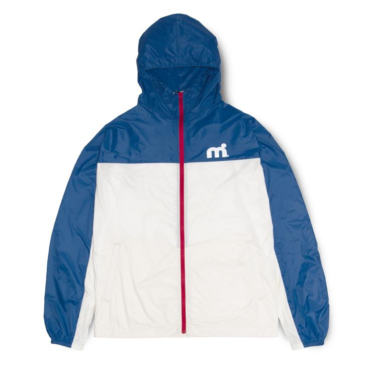 ミストラル メンズ [ ウインドLTジャケット ] WHITE/BLUE