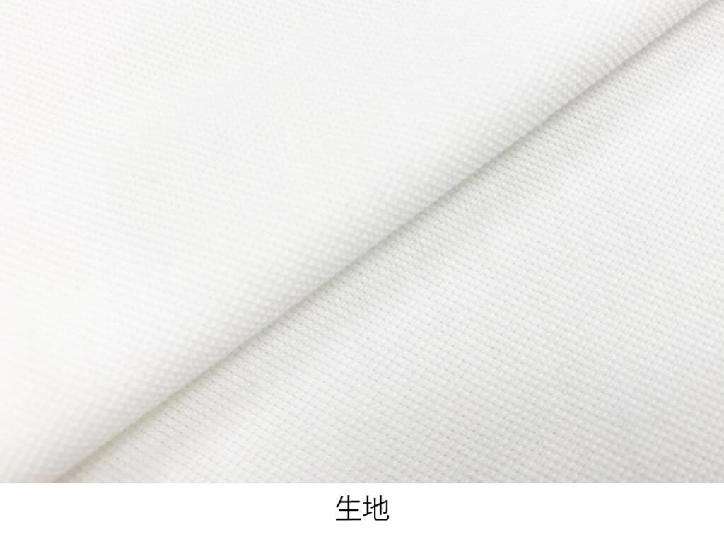 ウォータースポーツブランド「mistral(ミストラル)」のメンズ・レディース用吸水速乾(ドライ)ポロシャツ「ミストラル コンフォートポロシャツ ホワイト」生地(綿52%、ポリエステル48%)拡大写真