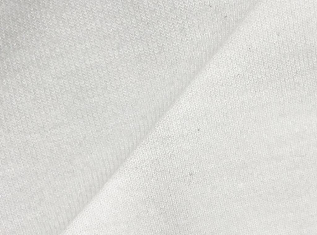 日本製機能Tシャツ「ミストラル ユニセックス 半袖 T シャツ (ホワイト)」表地