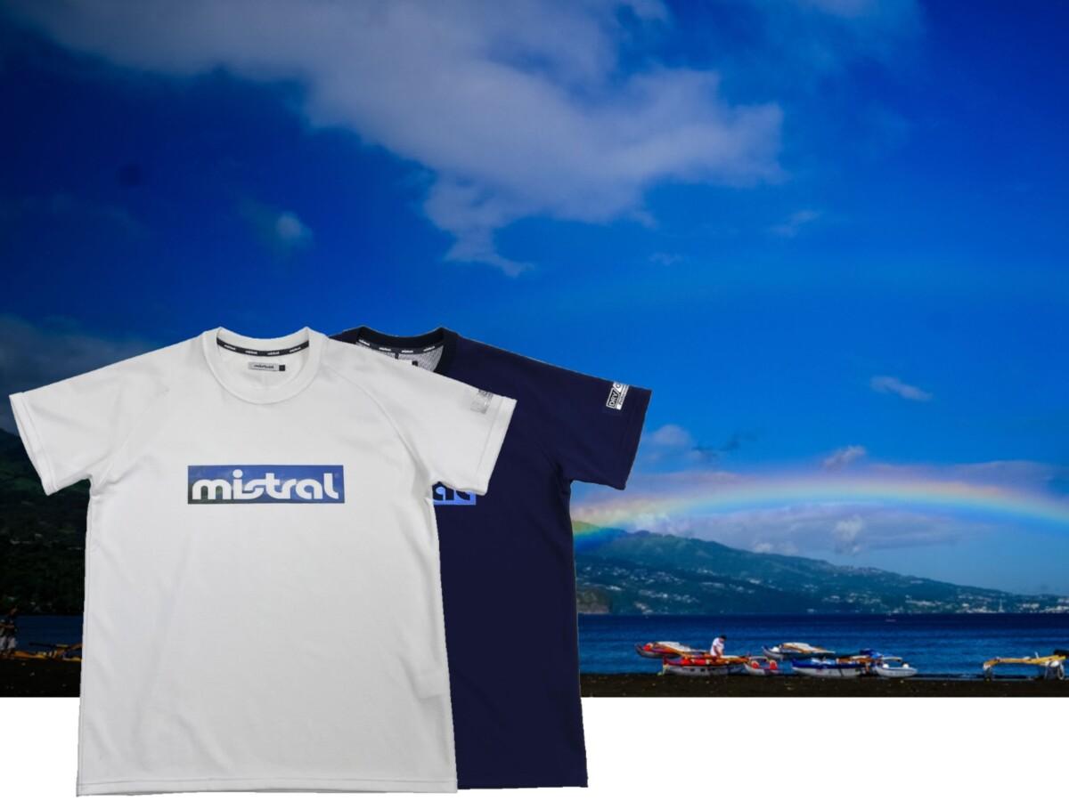 汗べたつき軽減・吸水速乾・UVカット素材 ミストラル機能スポーツTシャツ「HP-DRY(ハイドロフォビックドライ)Tシャツ」ホワイト(白)、ネイビー(紺)男女兼用