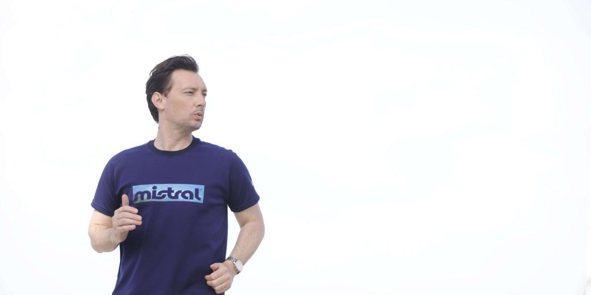 ユニセックス HP-DRY半袖Tシャツ - ミストラルスカイ -  ネイビー