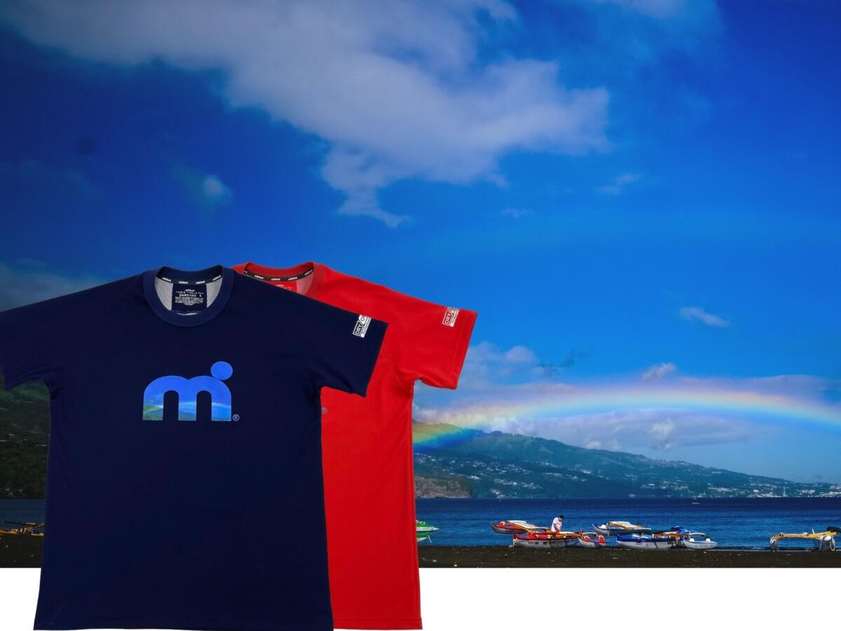 汗べたつき軽減・吸水速乾・UVカット素材 ミストラル機能スポーツTシャツ「HP-DRY(ハイドロフォビックドライ)Tシャツ」レッド(赤)、ネイビー(紺)男女兼用