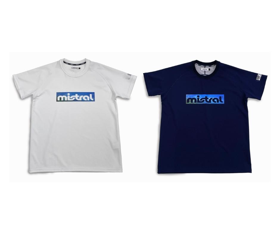 汗べたつき軽減・吸水速乾・UVカット素材 ミストラル機能スポーツTシャツ「HP-DRY(ハイドロフォビックドライ)半袖Tシャツ」ネイビー グラフィック(ユニセックスタイプ、メンズ・レディース兼用)