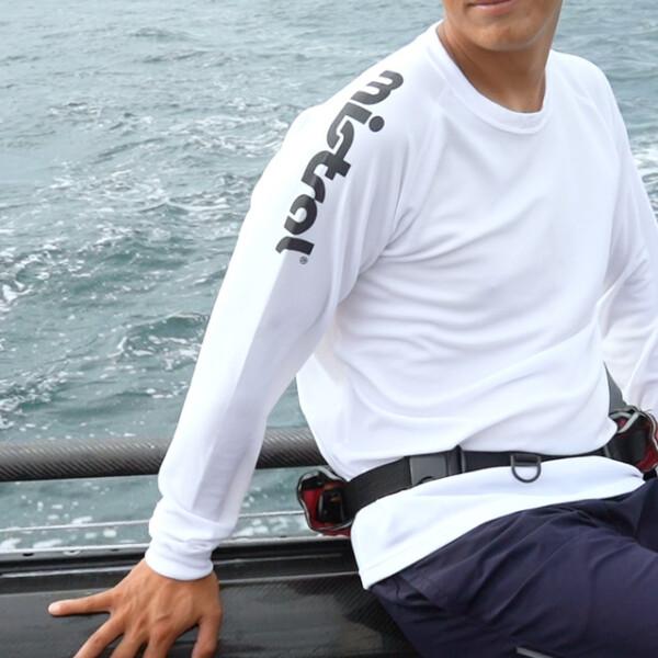 ユニセックス HP-DRY長袖Tシャツ アクティブフィット ホワイト